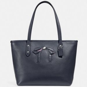 COACH MINI CITY ZIP TOTE WITH BOW